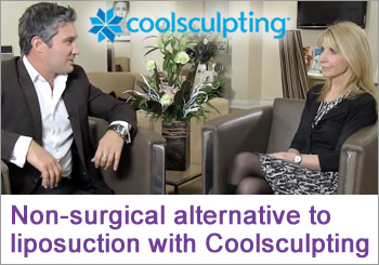 Non-surgical alternative to liposuction to freeze the fat away with coolsculpting