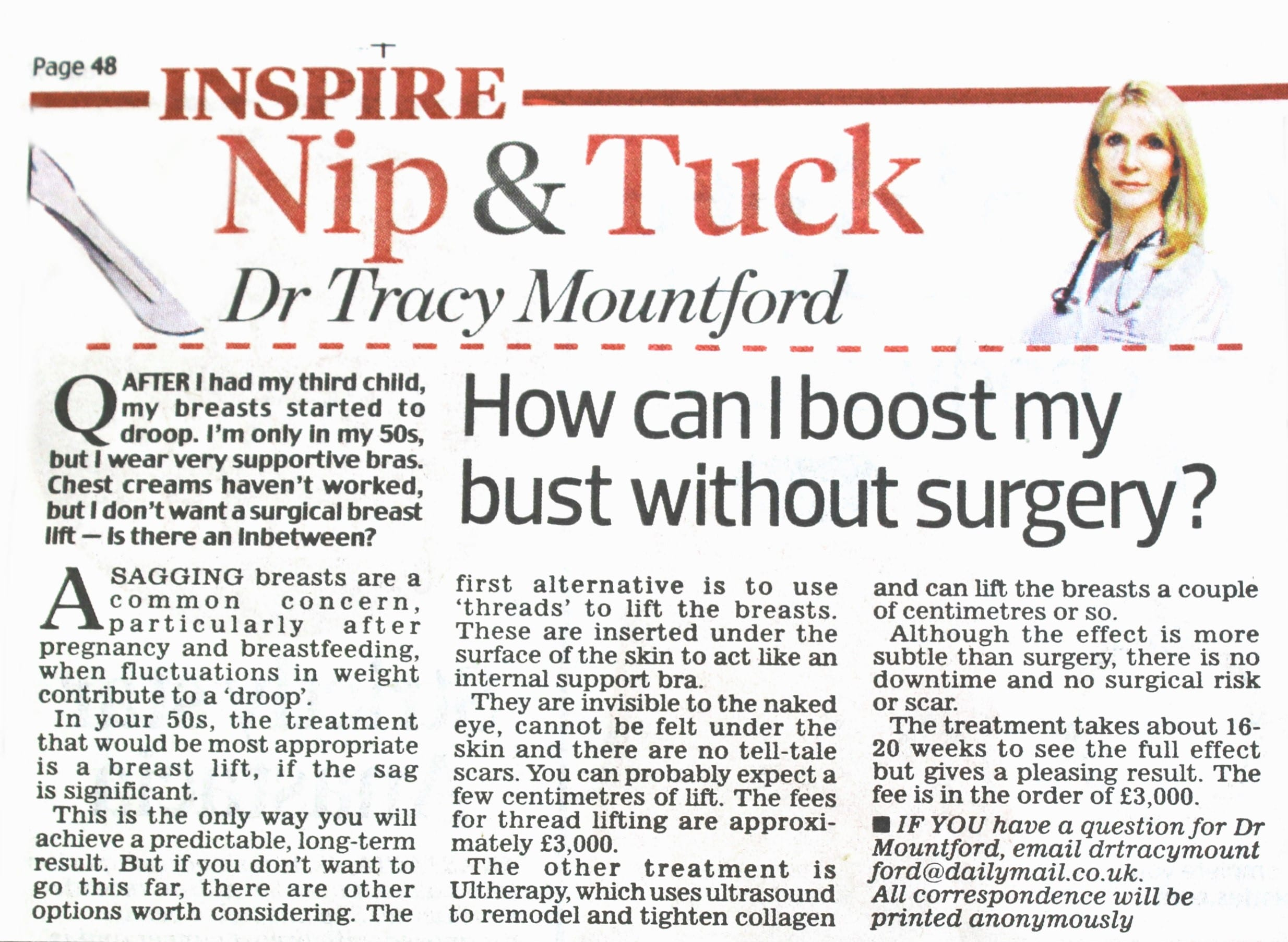 dail-mail-nip-and-tuck-10-October-2016-dr-tracy-mountford-non-surgical cosmetic treatments