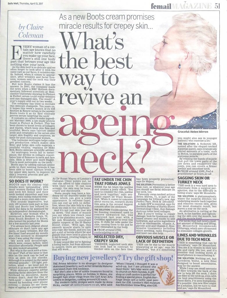 Daily Mail article on ageing neck