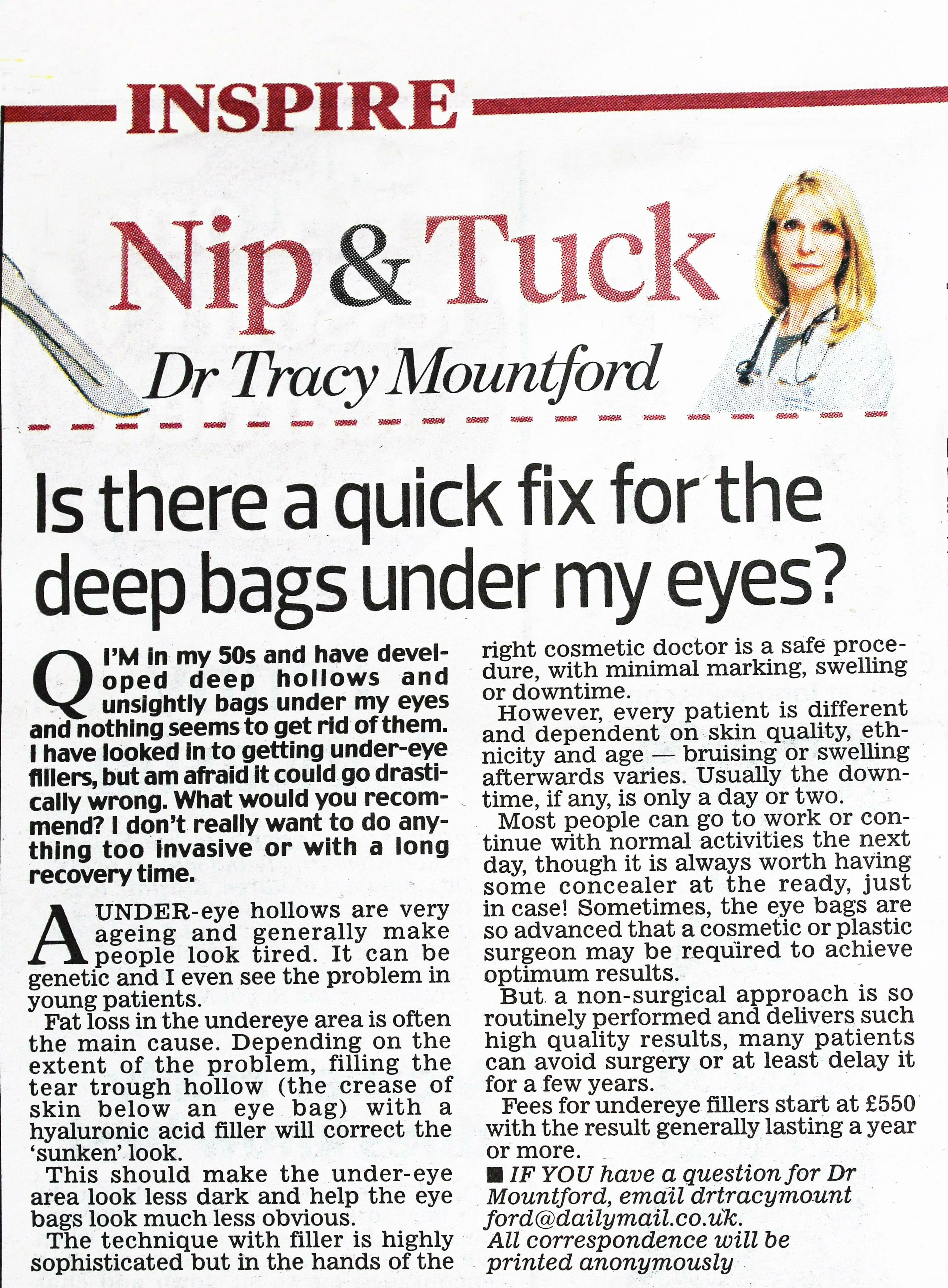 daily-mail-nip-and-tuck-26-September-2016-dr-tracy-mountford-non-surgical cosmetic treatments
