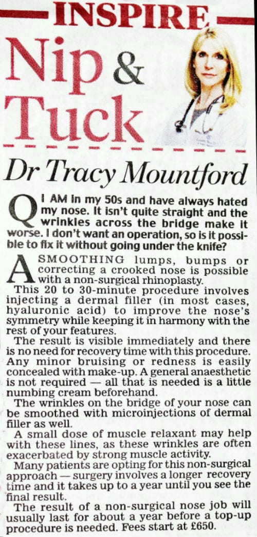 daily-mail-nip-and-tuck-31-October-2016-dr-tracy-mountford-non-surgical cosmetic treatments