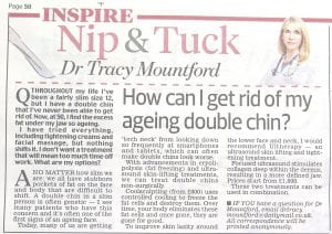 How to get rid of an ageing double chin in the Daily Mail