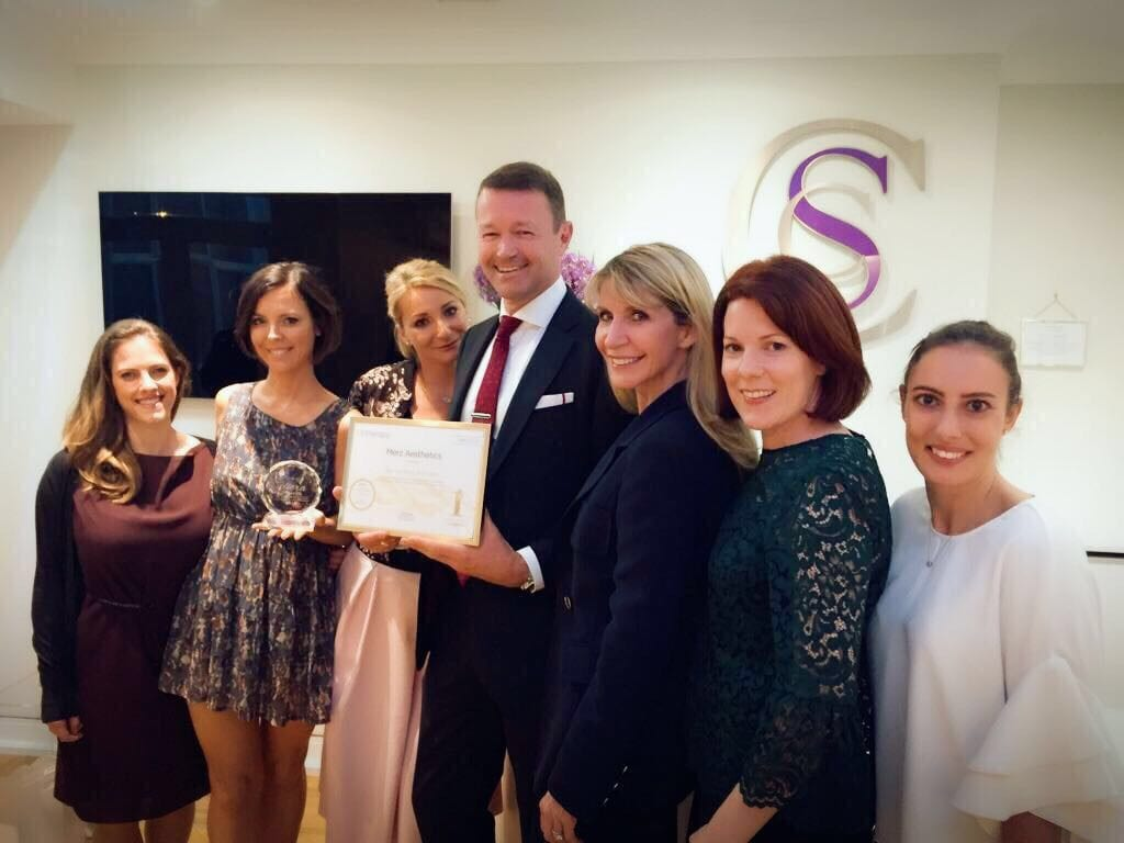 The Cosmetic Skin Clinic being awarded No1 clinic for Ultherapy