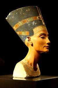 Queen Nefertiti who was famous for her slender neck