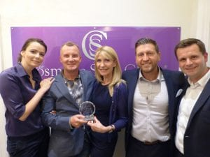 The Cosmetic Skin Clinic (Dr Tracy Mounford) receiving 'Ultherapy Ultra Premiere Treatment Provider' Highest User in the UK Award!