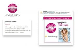 Ultherapy wins new Beauty magazine award