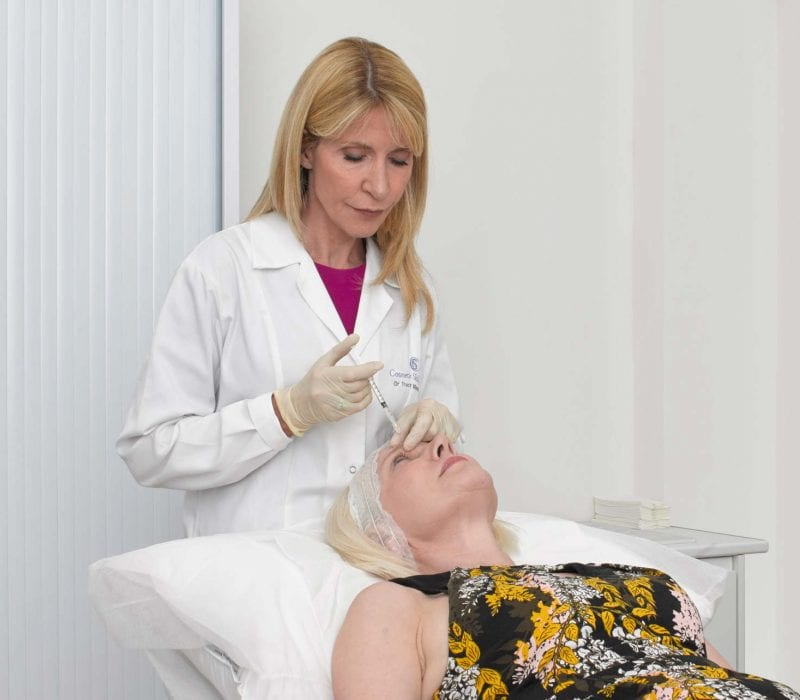 Dr Tracy Mountford conducting treatment on a patient