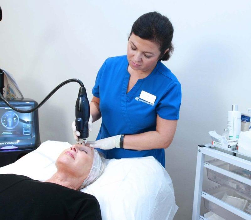 A lady having Intracel treatment