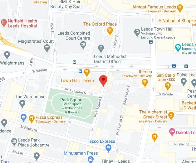 Leeds CoolSculpting Clinic Map