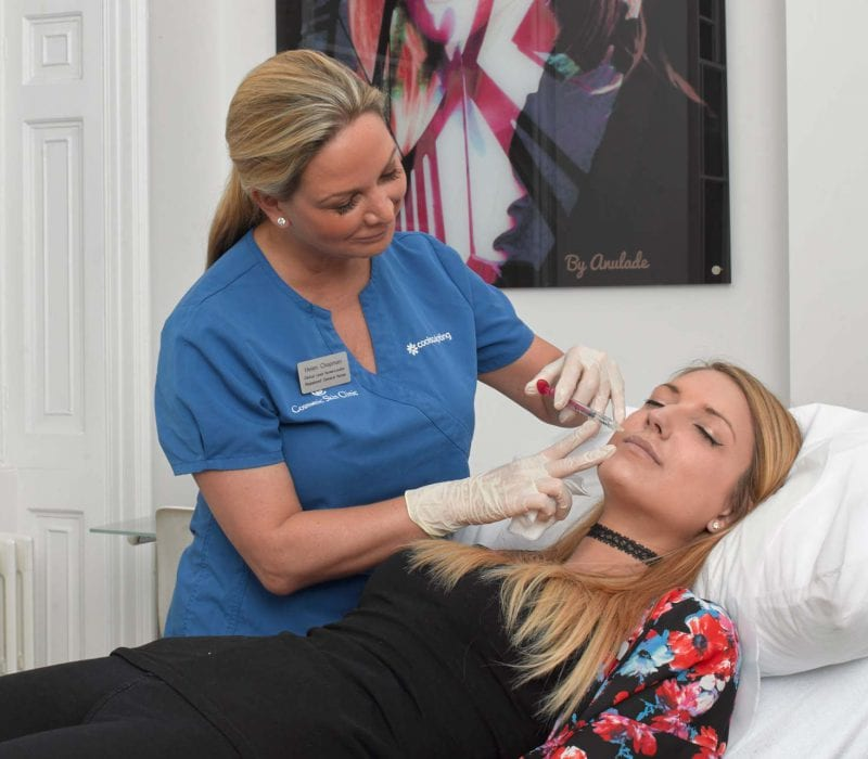 Lip filler treatment at the Cosmetic Skin Clinic