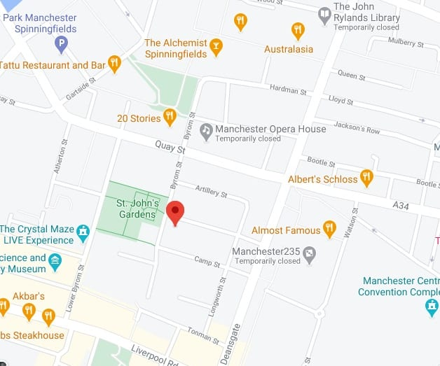 Manchester CoolSculpting Clinic Map