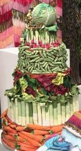 Vegetable Garden Themed Wedding Cake